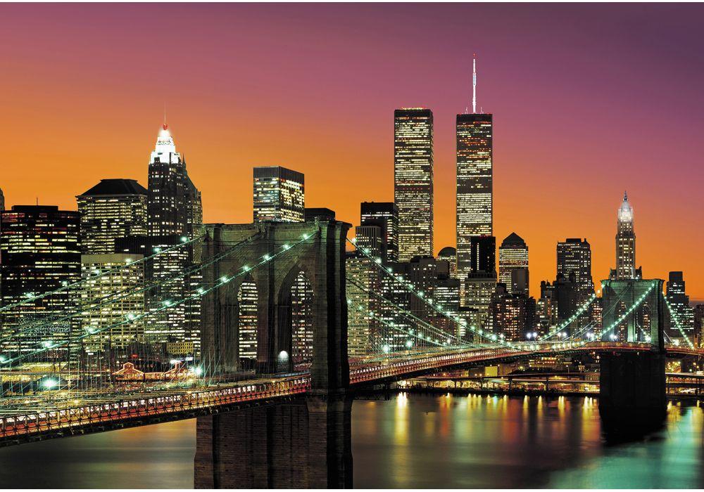 Иллюстрация на тему Бруклинский мост - архитектурный шедевр города Нью Йорк