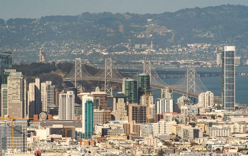 Золотые Ворота - вид с города