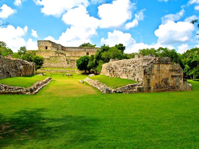 Иллюстрация на тему Ушмаль, город цивилизации древних майя в Мексике